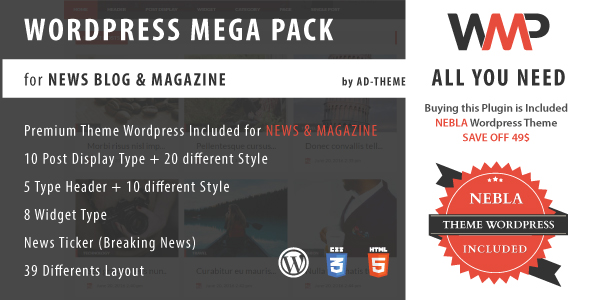 WP Mega Pack for News, Blog and Magazine - All you need