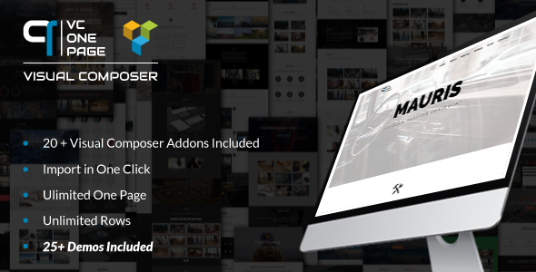 VC One Page Builder - Addons for Visual Composer Download