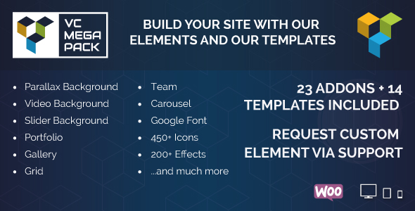 Visual Composer Mega Pack - Addons and Templates Download