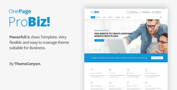 Probiz - Onepage Creative Multipurpose Joomla Template