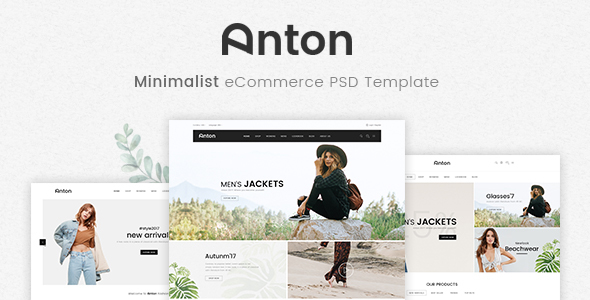 Anton - Ecommerce PSD Template