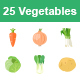 Vegetables II color vector icons - GraphicRiver Item for Sale