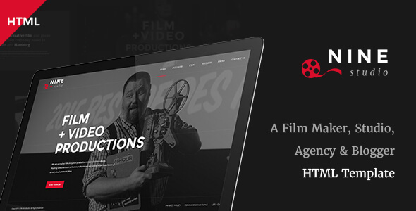 Nine Studio - A Film Maker, Studio, Agency & Blogger HTML Template