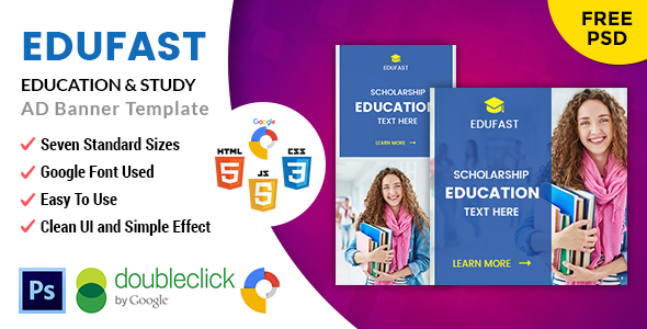 Edufast Education | HTML5 Google Banner Ad