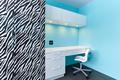 Zebra and white cabinets study desk - PhotoDune Item for Sale