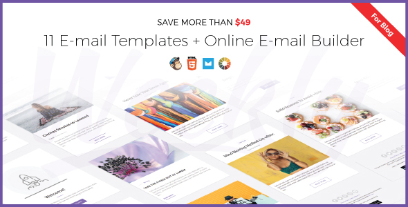 Weekly | Responsive Email Newsletter Template with Online Email Builder