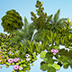 Flowers, grass, shrub. 25 low poly models - 3DOcean Item for Sale