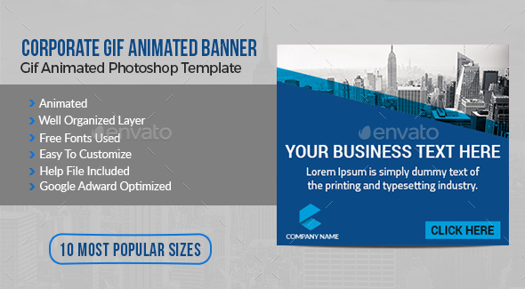 Gif Template Graphics, Designs & Templates from GraphicRiver