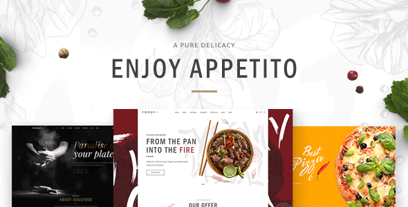 Appetito - Fast Food Restaurants & Cafés Theme