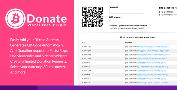 Bitcoin Donate - A WordPress Plugin