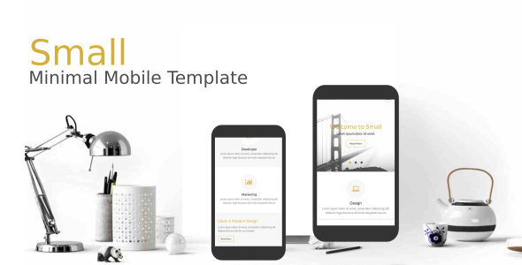 Small - Minimal Mobile Template