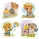 Set of Illustrations of Vector of Teddy Bear - GraphicRiver Item for Sale