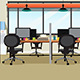 Empty Office Workplace Illustration - GraphicRiver Item for Sale