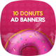 Sweet Donuts Banner Set - GraphicRiver Item for Sale