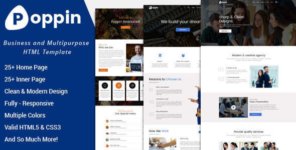 Poppin - Business and Multipurpose HTML5 Template