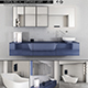 Bathroom furniture set Panta Rel 4 - 3DOcean Item for Sale