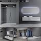 Bathroom furniture set Panta Rel 5 - 3DOcean Item for Sale