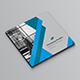 Square Blue Brochure Company - GraphicRiver Item for Sale