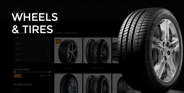 Wheels & Tires - WordPress Theme