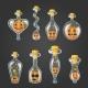 Big Set of Bottle Elixir with Halloween Pumpkin - GraphicRiver Item for Sale