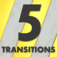 5 Clean Gold Marble Transitions - VideoHive Item for Sale