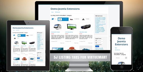 VirtueMart 3 Listing Tabs Responsive Module