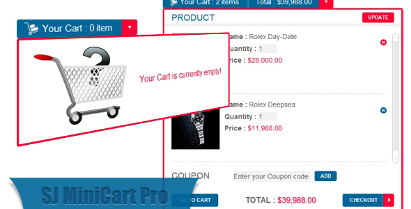 Mini Cart Pro for VirtueMart Joomla Module