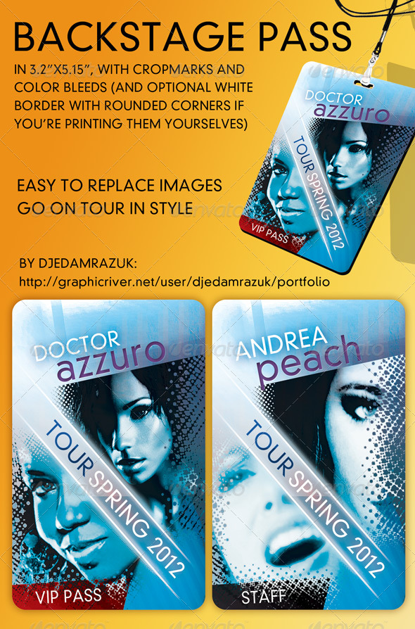 Backstage Pass Graphics, Designs & Templates from GraphicRiver