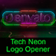 Tech Neon Logo Opener / Element 3D - VideoHive Item for Sale