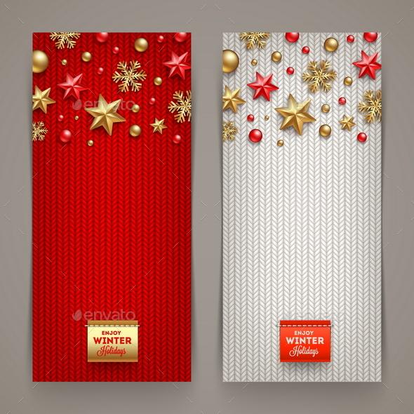 Christmas Banners - Vector Illustration