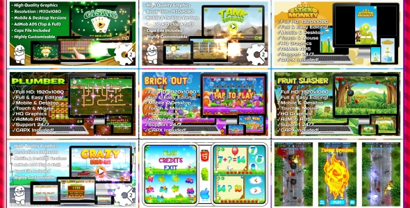 HTML5 GAMES BUNDLE №5 (Construct 3 | Construct 2 | Capx) Download