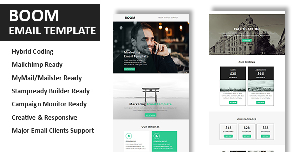 Boom - Multipurpose Responsive Email Template With Online StampReady Builder Access
