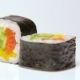 Vegan Vegetarian Sushi Rolls Ratation on White, Isolated - VideoHive Item for Sale