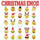 25 Christmas Emoticon Set - GraphicRiver Item for Sale