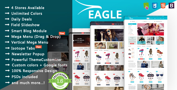 Eagle - Minimalist Shopping & Accessories Responsive PrestaShop Theme