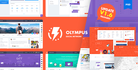 Olympus Social Network PSD Template V1 6 Cracked Themeforest