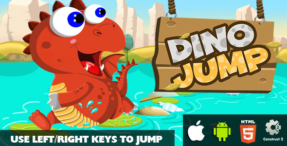 Dino Jump - HTML5 Game (CAPX)