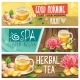 Relaxing Morning Herbal Tea Vector Banners Set - GraphicRiver Item for Sale