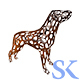 Dog Statue Made Of Wood - GraphicRiver Item for Sale