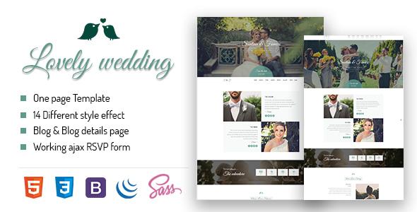 Lovely Wedding -Full Responsive Template
