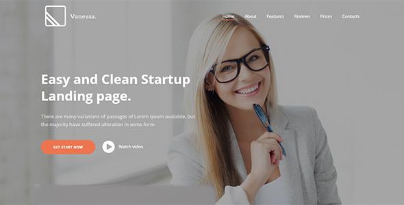 Vanessa - Easy Startup Landing Joomla template