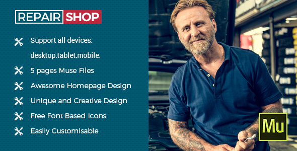 Repair Shop - Muse Template