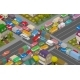 Traffic Jam Isometric Cars and Houses - GraphicRiver Item for Sale