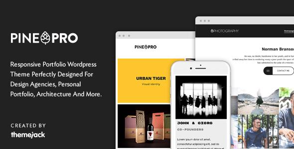 Pine PRO - Responsive Portfolio WordPress Theme