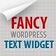 Fancy Text Widget - CodeCanyon Item for Sale