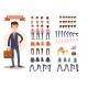 Businessman Cartoon Personage Generator Vector - GraphicRiver Item for Sale
