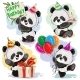 Panda Bear Baby Celebrates Birthday Cartoon Vector - GraphicRiver Item for Sale