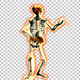 Fiery Skeleton Pllaying Air Guitar - VideoHive Item for Sale