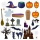 Set of Scary Halloween Illustrations - GraphicRiver Item for Sale