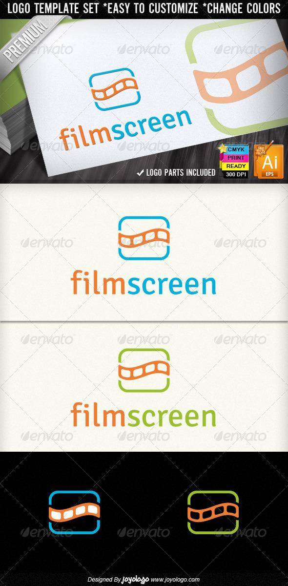 Film Strips Screen Movie Cinema Logo Designs